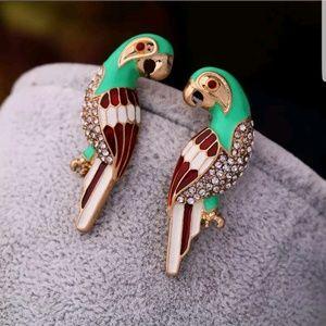 Betsey Johnson Adorn Green Bird Earrings Hot!!!